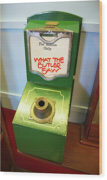 What The Butler Saw Machine Wood Print by Mark Williamson/science Photo Library