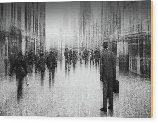 What's Going On Inside Of The City? Wood Print