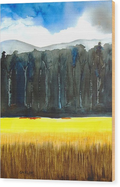 Wheat Field 2 Wood Print