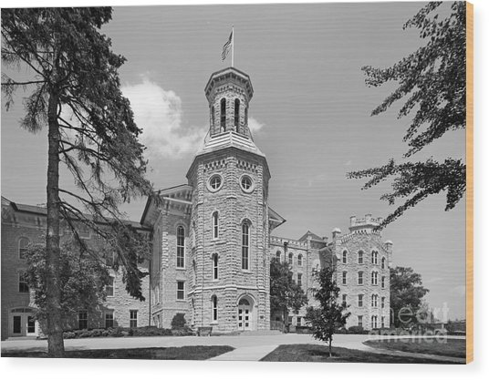 Wheaton College Blanchard Hall Wood Print
