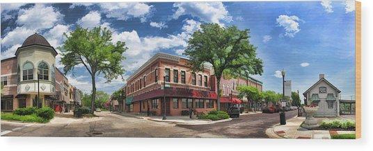 Wheaton Front Street Panorama Wood Print