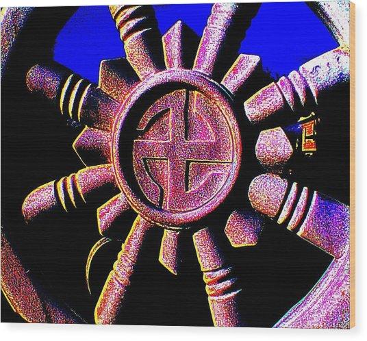 Buddhist Dharma Wheel 1 Wood Print