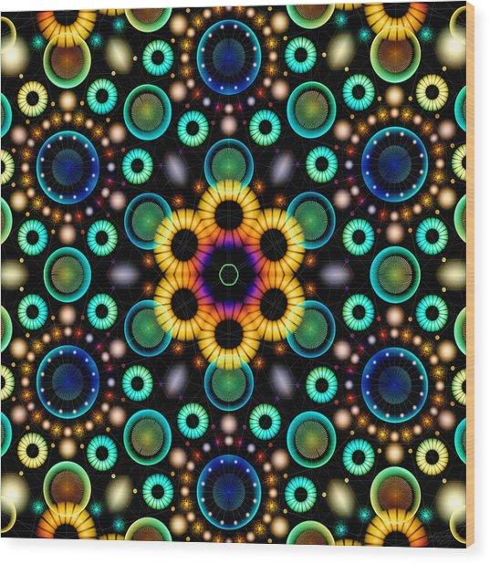 Wood Print featuring the digital art Wheels Of Light by Derek Gedney