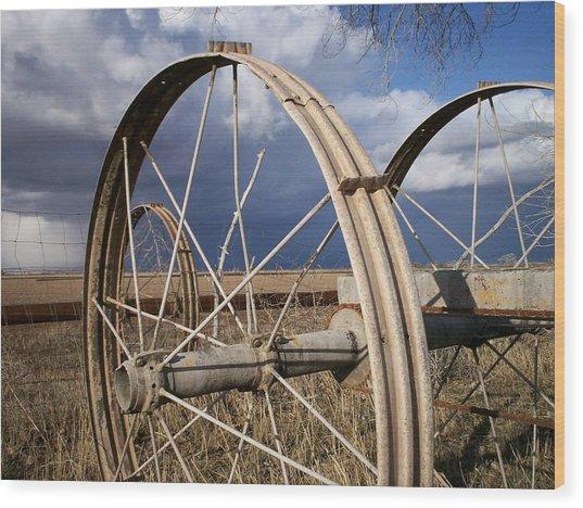 Wheels Of Water Wood Print