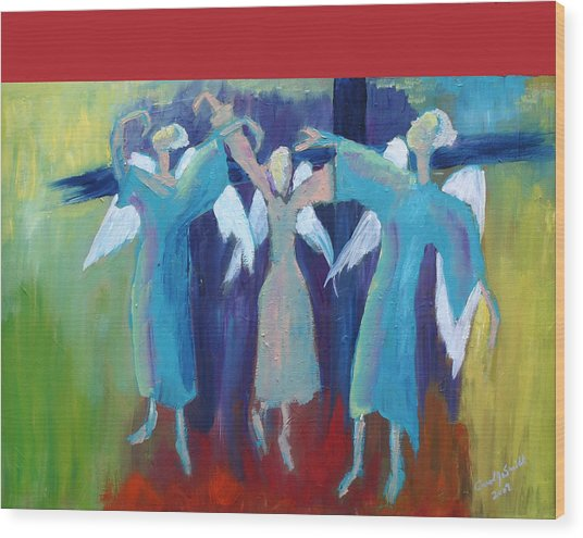 When Angels Dance Wood Print