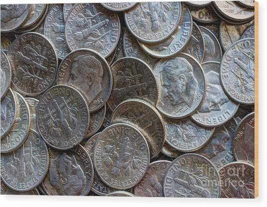 When Dimes Were Made Of Silver Wood Print