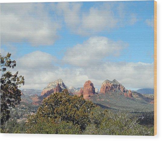 Wood Print featuring the photograph When Far Clouds Depart by Lynda Lehmann