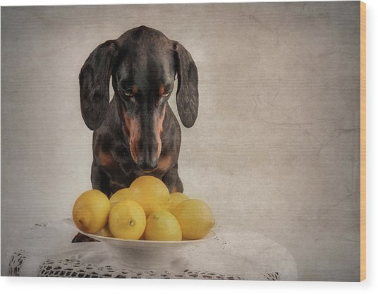 When Life Gives You Lemons... Wood Print