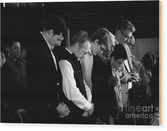 When Men Put God First Wood Print