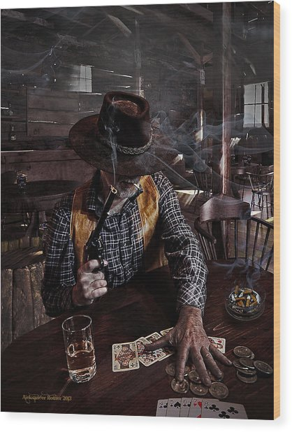 When Smoking In Bars Was Still Legal Wood Print