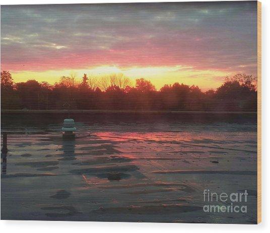 When Sunrise Calls Wood Print by Judy Via-Wolff