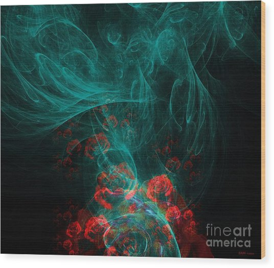 When The Smoke Clears They Bloom Wood Print