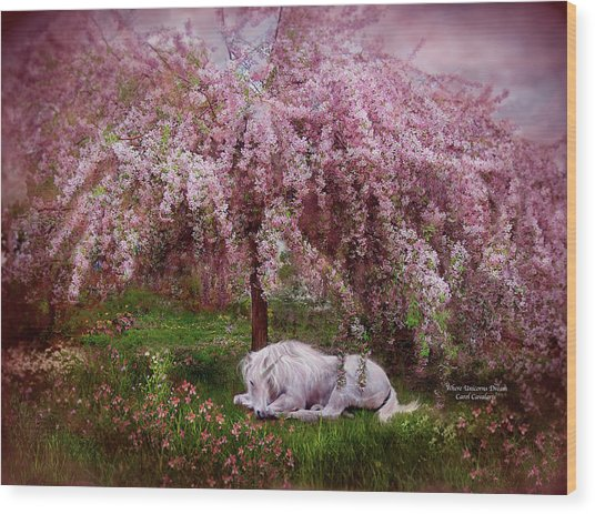 Where Unicorn's Dream Wood Print
