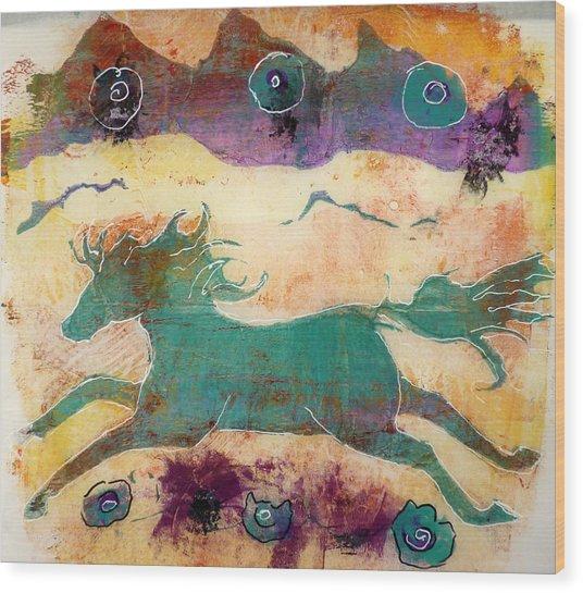 Where Wild Horses Roam Wood Print