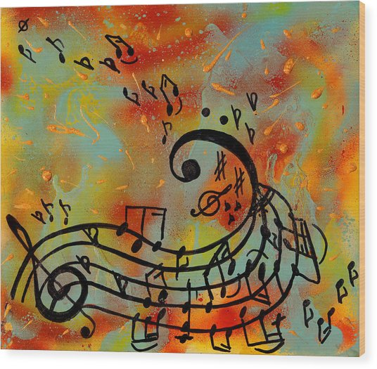 Whimsical Melody Wood Print