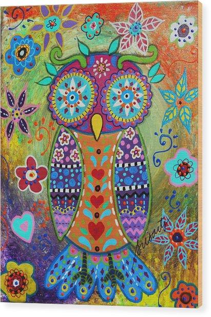 Whimsical Owl Wood Print
