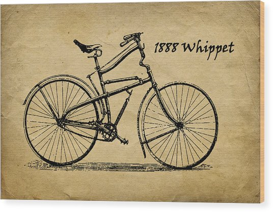 Whippet Bicycle Wood Print