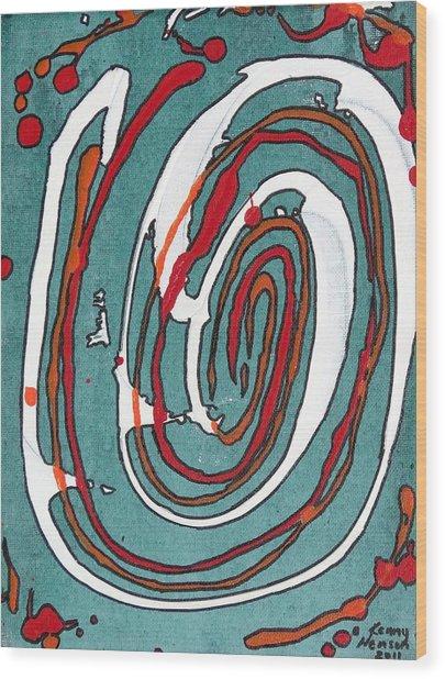 Whirl 2 Wood Print