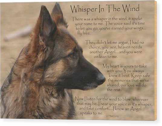 Whisper In The Wind Wood Print
