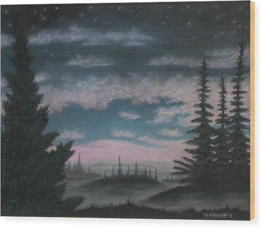 Whispering Pines 02 Wood Print
