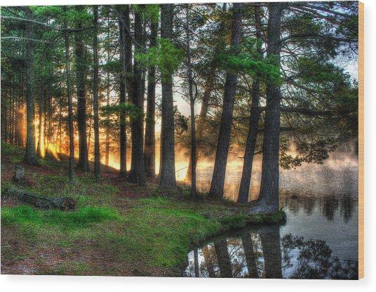 Whispering Pines 2 Wood Print