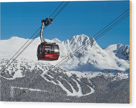Whistler Blackcomb Peak To Peak Wood Print