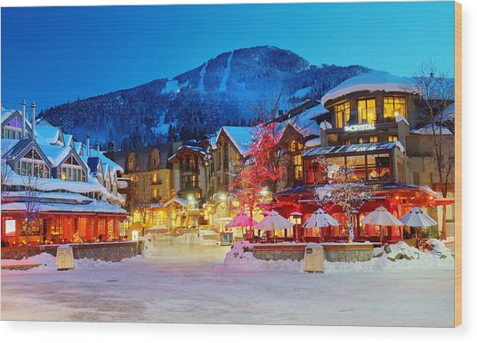 Whistler Village  Wood Print