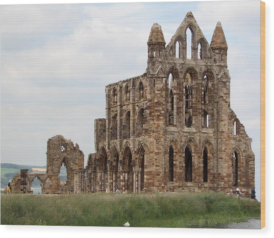 Whitby Abbey Wood Print