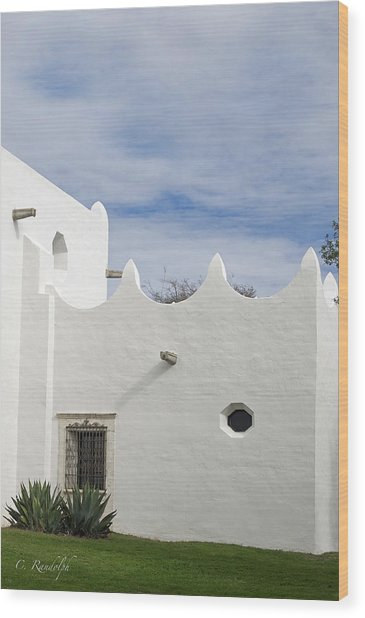 White Adobe Wood Print by Cheri Randolph