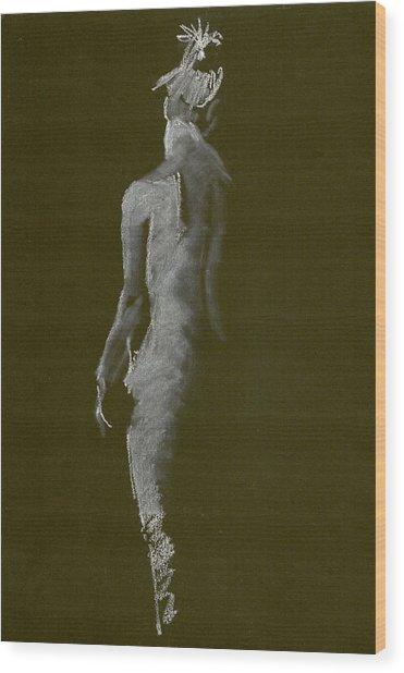 White Back Wood Print