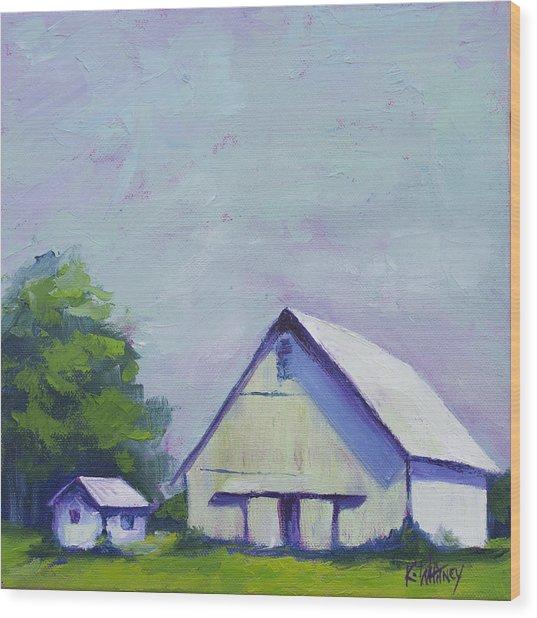 White Barn Wood Print