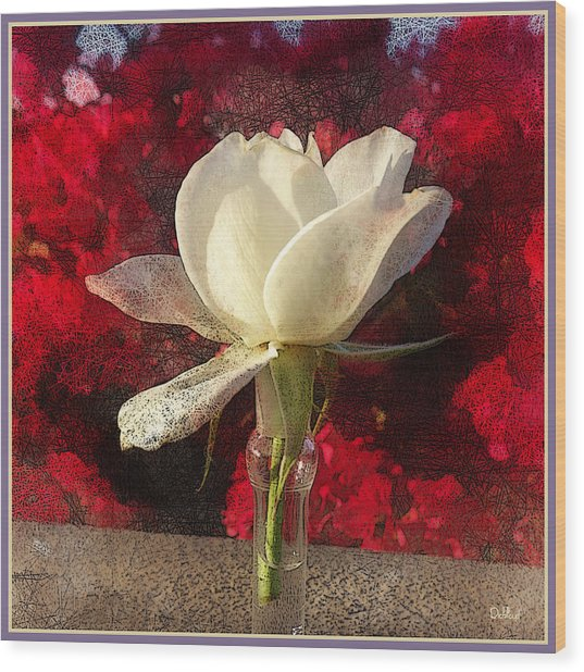 White Bud Wood Print by Rick Lloyd