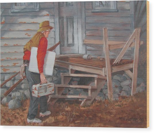 White Canvas Wood Print