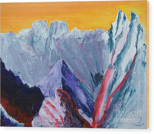 White Canyon Wood Print
