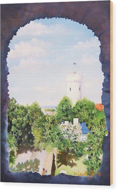 White Castle In Tallinn Estonia Wood Print