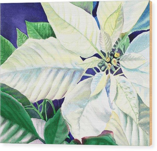 White Christmas Wood Print