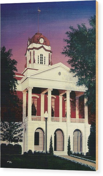 White County Courthouse Wood Print