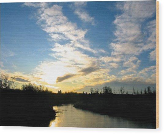 White Earth River Wood Print by Brian Sereda