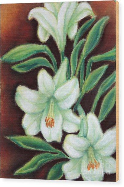 White Elegance Wood Print