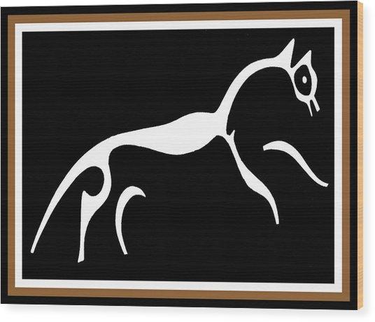 White Horse Of Uffington Wood Print