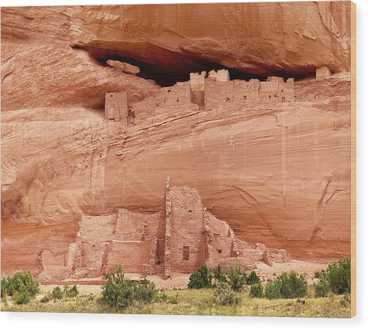 White House Ruins Canyon De Chelly Wood Print