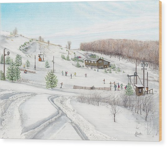White Mountain Resort Wood Print