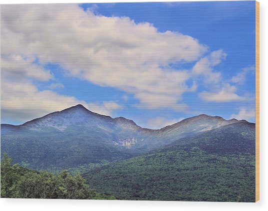 White Mountains Wood Print by Andrea Galiffi