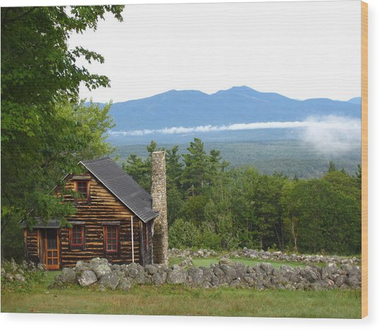 White Mountains Nh Wood Print