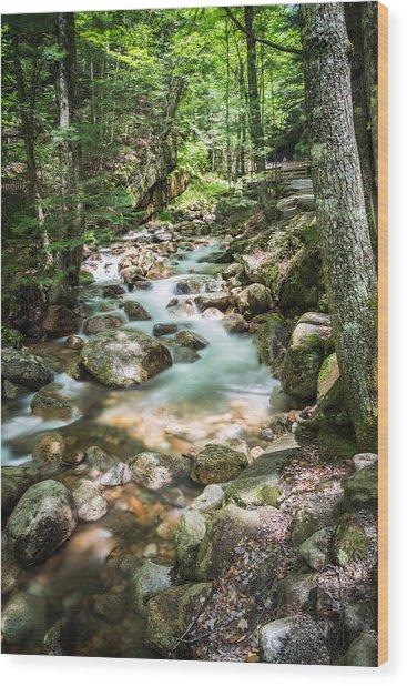 White Mountains Stream Wood Print by John Crookes