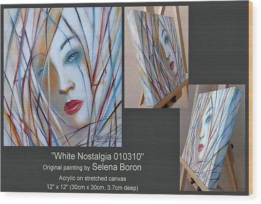 White Nostalgia 010310 Comp Wood Print