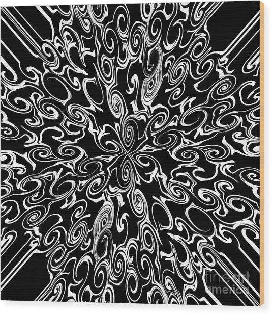 White On Black Wood Print by Lorraine Heath