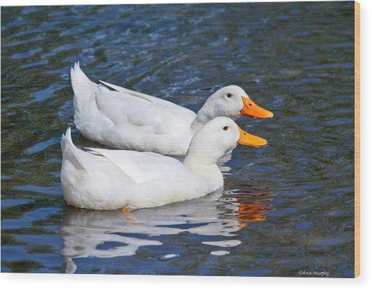 White Pekin Ducks #2 Wood Print