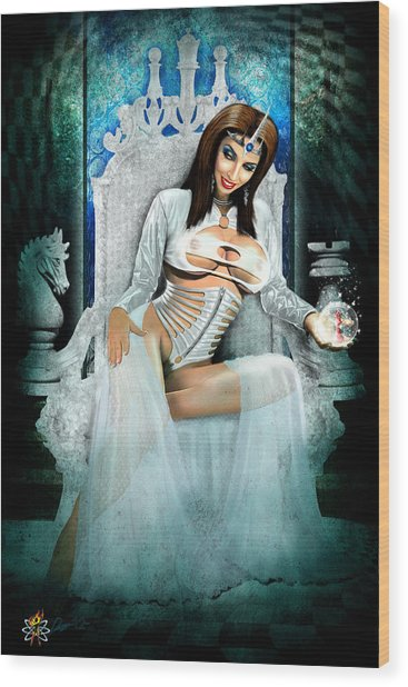 White Queen Wood Print