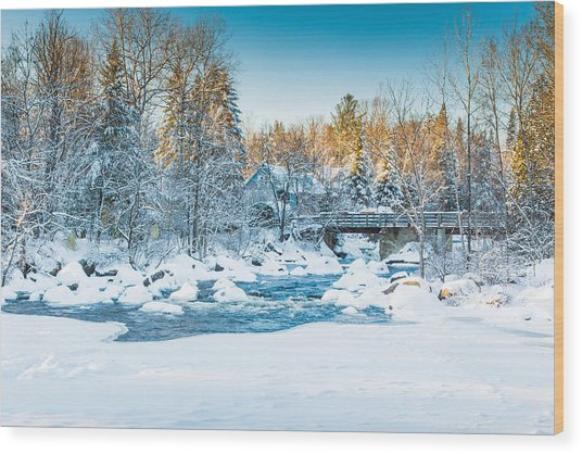 White River Wood Print